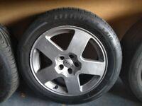"""4 Audi TT 5x100 stud 16"""" alloy wheels"""