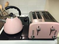 Pink kettle and toaster set from next