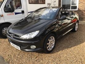 Peugeot 206 cc convertible with alloy wheels and cd radio and lint M.O.T til June 2018