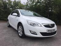 2010 NEW SHAPE VAUXHALL ASTRA EXCLUSIV WHITE 56000 MILES FSH