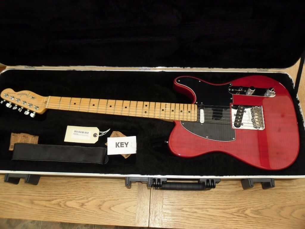 2009 usa telecaster crimson red