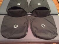 Two Bugaboo Donkey aprons for bassinet / carrycot - black