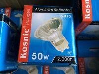 15x GU10 fitting halogen lightbulbs 2000 hours not led new boxed