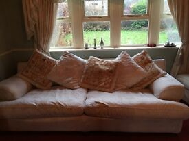 Large 4 and 1 seater + Leg rest Cream Coloured Sofas From DFS