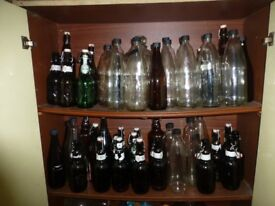Home brewing bottles, assorted sizes