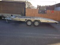 NEW ALUMINIUM CAR TRANSPORTER RECOVERY TRAILER 2700KG GVW 14,8 FEET(4,5m)LONG LOADING SPACE LENGTH