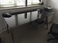Stunning IKEA Black Glass Gloss Desk