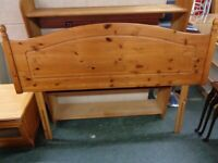 Solid Pine Standard Double Headboard