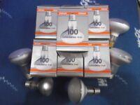 10 new Osram Concentra R80 100w 240v E27 Edison Screw Reflector Spot light bulbs