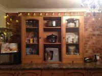 Solid Oak counter top unit