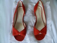 Suede Orange flats, UK 4 - EUR 37, ideal for the summer, in perfect condition