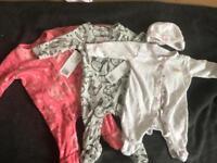 Girls baby grow bundle