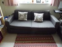 Habitat brown three seat sofa - two available