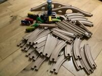 Wooden train set.