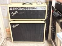 Fender blackface deluxe reverb and matching cab.