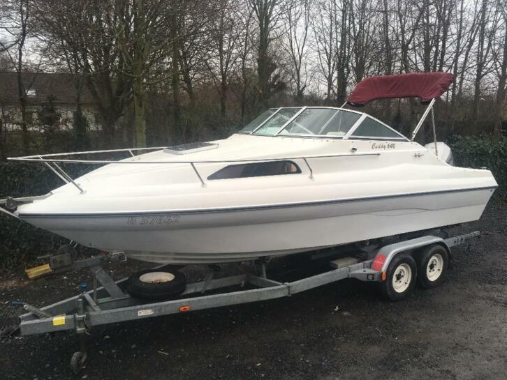 Kajuitboot San Boats 640 met Honda 150pk op trailer garantie
