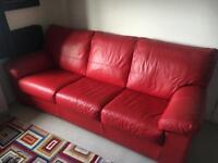 DFS leather sofa bed; hardly used, absolute bargain!!