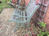 Garden ornamental chairs x 2