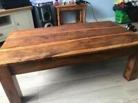 Oak wood coffee table solid