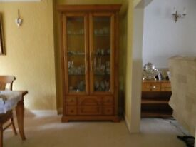 Glass fronted cabinet for sale