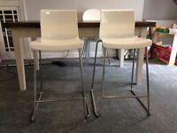 2 Ikea Glenn bar stools (77cm), great condition and stackable