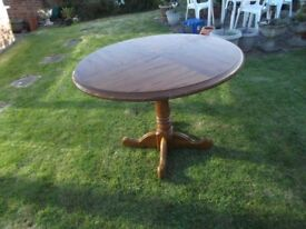 Circular Dining Table Solid Wood
