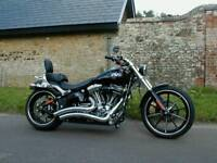 2014 Harley-Davidson Softail FXSB 1690 Breakout Chopper Cruiser Black 1850 Milles