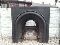 Cast iron fireplace / vintage fire / cast iron fire insert / mantle piece / fire surround / cast