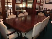 Snooker/Dining Table & 8 Chairs