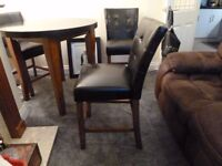 Dining Table and 4 chairs - Granite and Wood top REDUCED PRICE