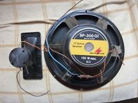 12 INCH 150 WATT SPEAKER,HORN AND GRILLE,USED TWICE,VGC