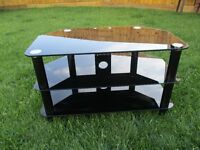 Tempered Glass black tv unit