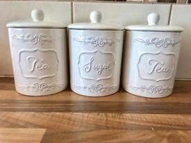 Tea and sugar canisters
