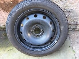 Continental Renault Clio spare wheel hardly used 8mm tread