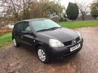2004 RENAULT CLIO 1200 EXPRESSION 5 DOOR HATCH BACK NEW CAM BELT AND WATER PUMP OUTSTANDING