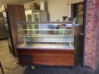 Display Fridge counter service 1.5m for restaurant takeaway cafe shops