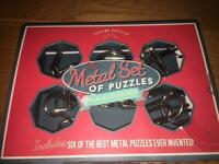 """The Metal Set of Puzzles"" 6 Metal Piece Puzzles"