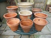 Mixed Selection of 9 Very Attractive Plant Pots.