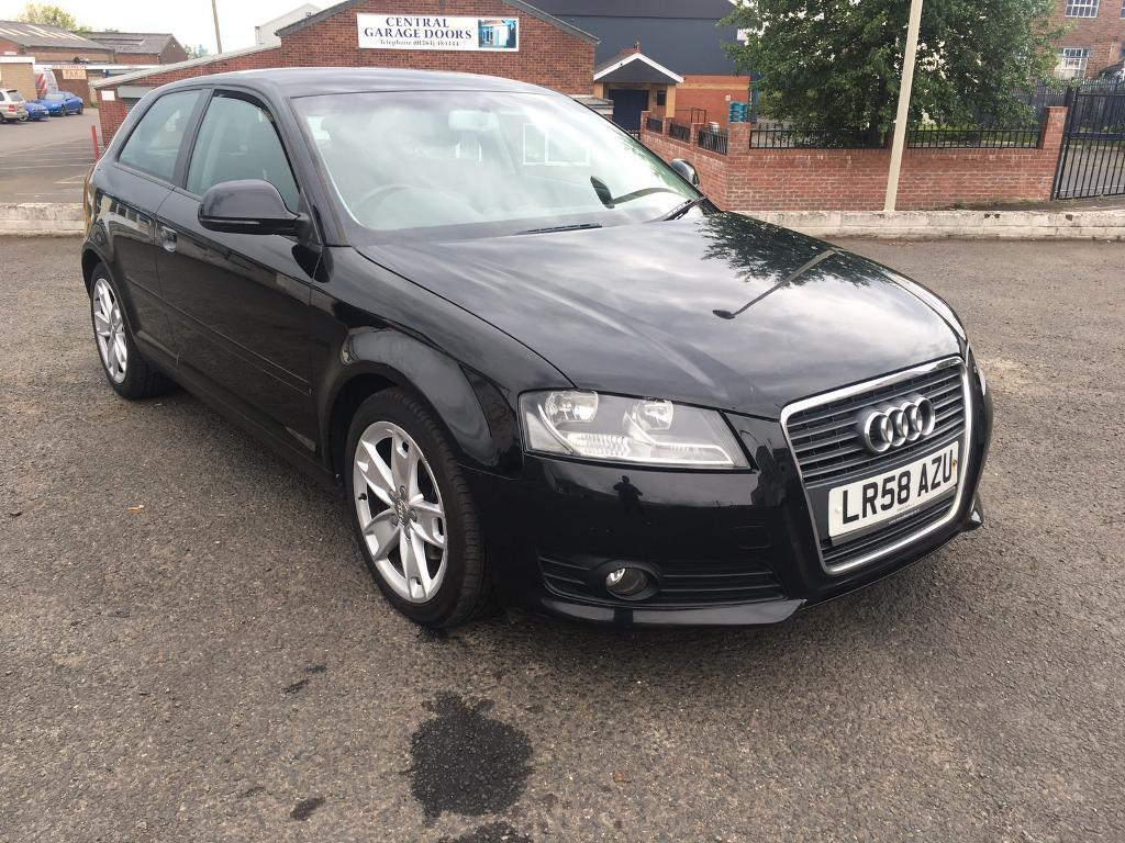2008 58 audi a3 sport tdi in black in dudley west midlands gumtree. Black Bedroom Furniture Sets. Home Design Ideas