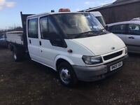 2005 twinwheel ford transit crewcab Tipper truck nice driving truck ready for work px welcome