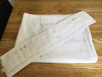 """2 PAIRS OF CREAM CURTAINS - SIZE 66""""W x 54""""D and 90""""W x 72""""D"""