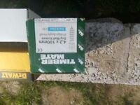 100mm drywall screws x12 boxes