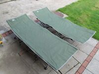2 x Eurohike campbeds, good condition and serviceable but both with one broken leg clip, see photos