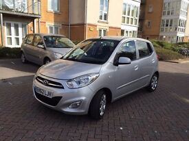 2012 62 HYUNDAI i10 ACTIVE SILVER 14,000 GENUINE MILES ONLY CAT D REPAIRED IN FAB CONDITION