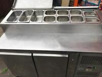 Commercial catering kitchen equipment restaurant pizza topping salad fridge pizza shop
