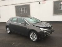 2013 63 VAUXHALL ASTRA 1.6 ELITE AUTOMATIC GREY DAMAGED SALVAGE REPAIRABLE