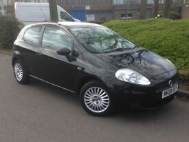 2008 FIAT GRAND PUNTO 1.2 BLACK **LOW MILES ONLY 57000**CHEAP TO RUN**
