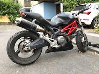 Monster 696 + Black / Red 2009 MIVV Exhaust