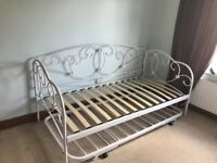 Next white metal Day Bed