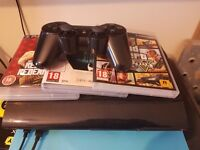 PlayStation 3 Super Slim 500gb with 3 games and controller